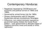 contemporary honduras