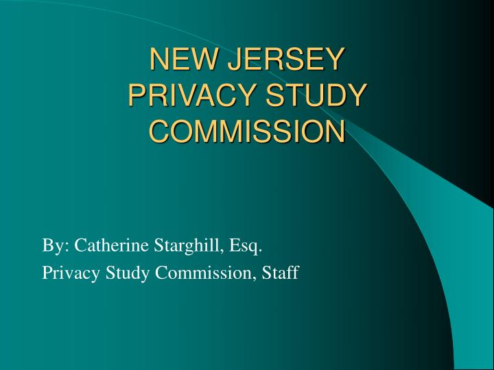 new jersey privacy study commission n.