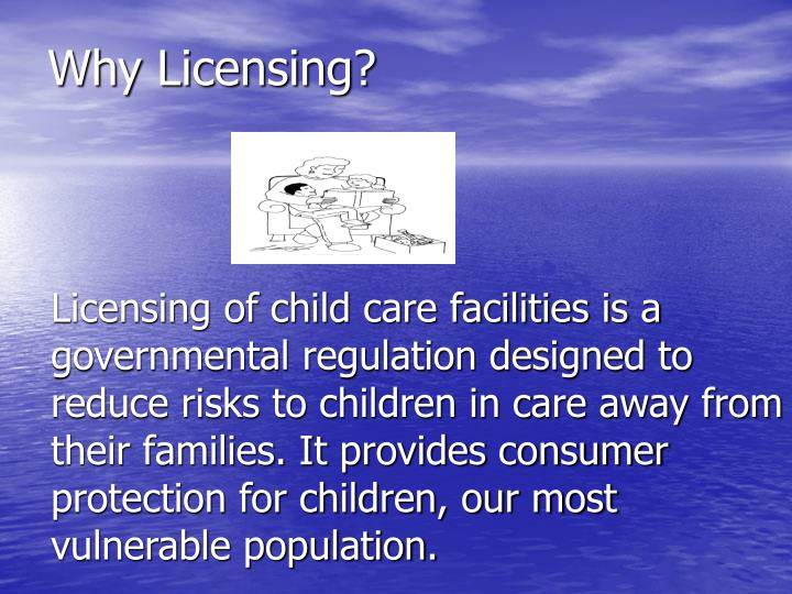 Why licensing