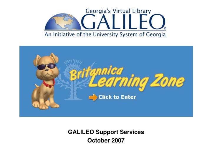 galileo support services october 2007 n.