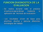 funcion diagnostica de la evaluacion
