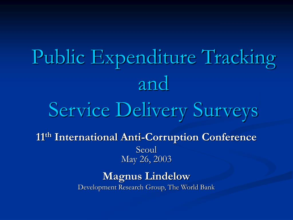 public expenditure tracking and service delivery surveys l.