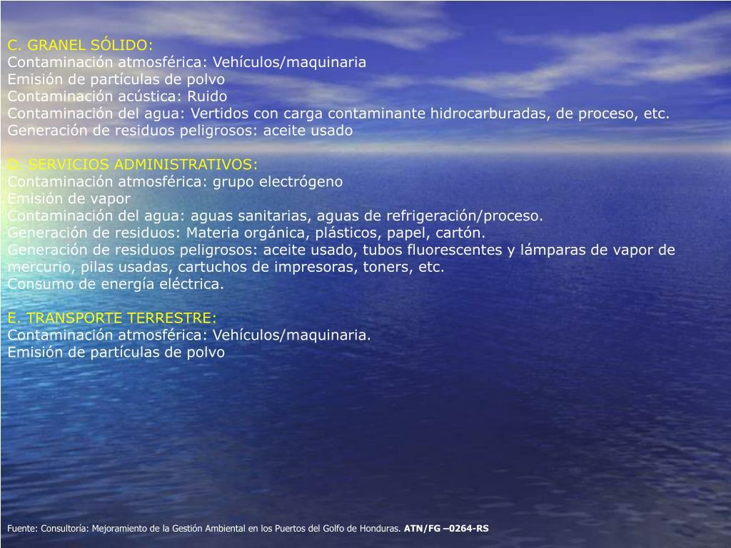 C. GRANEL SÓLIDO: