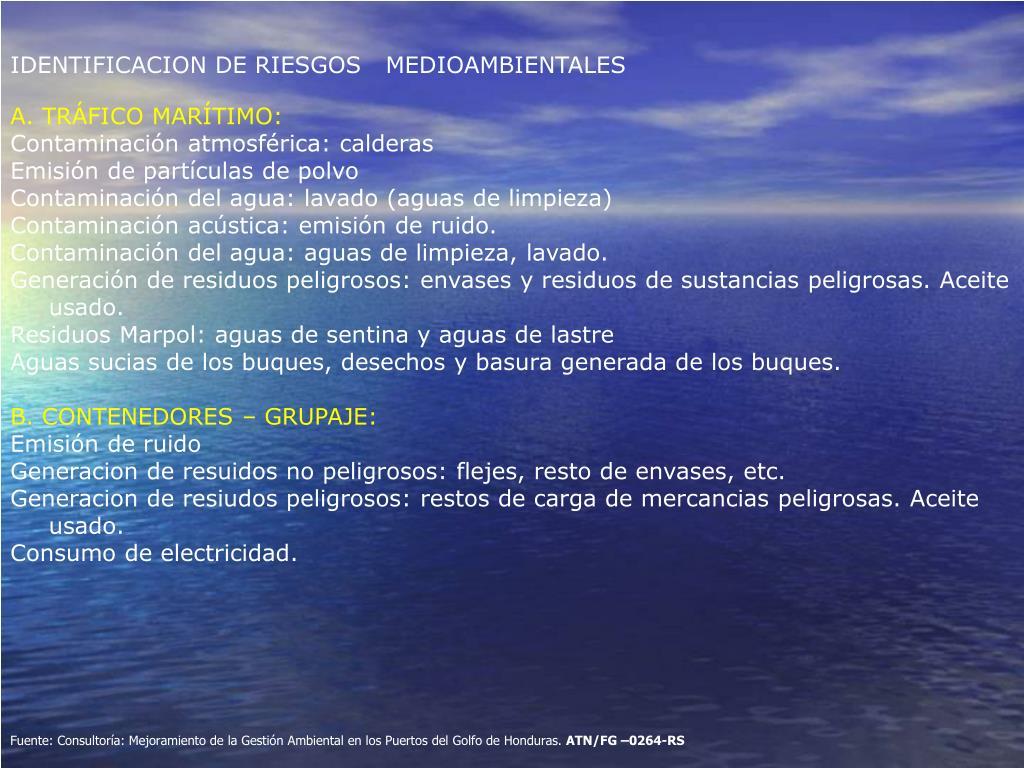IDENTIFICACION DE RIESGOS   MEDIOAMBIENTALES