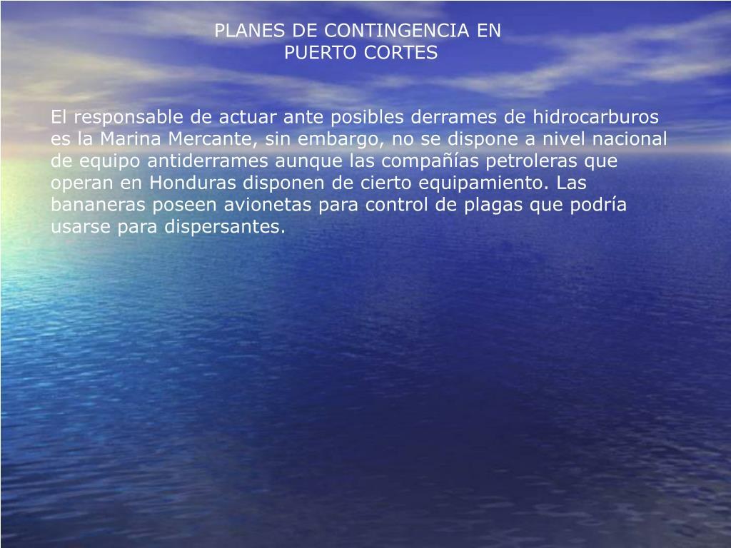 PLANES DE CONTINGENCIA EN