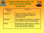 proyectos potenciales de er s 5 cartera de proyectos ahpper energ a solar