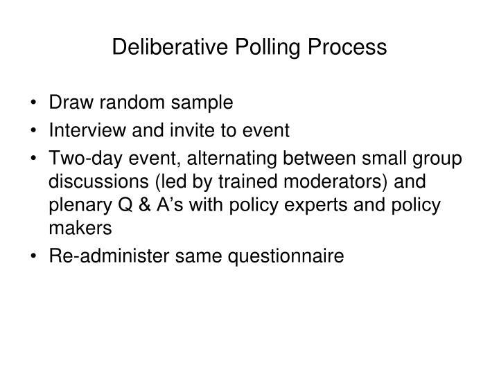 Deliberative Polling Process