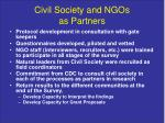 civil society and ngos as partners