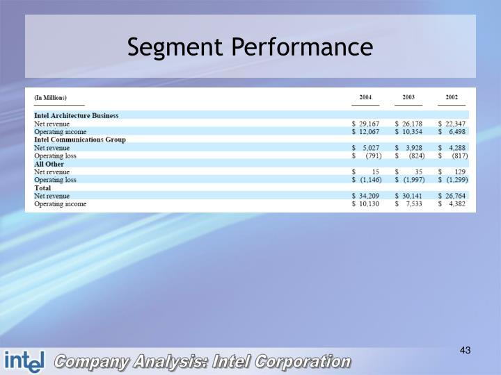 Segment Performance