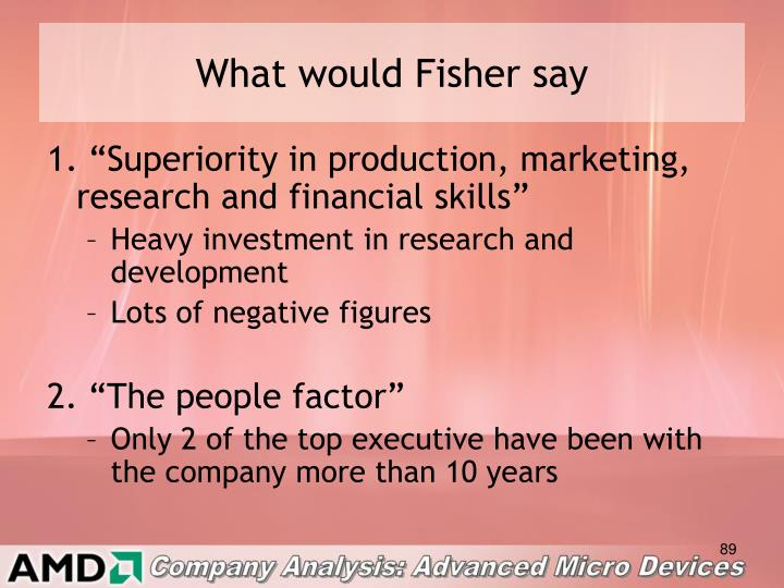 What would Fisher say