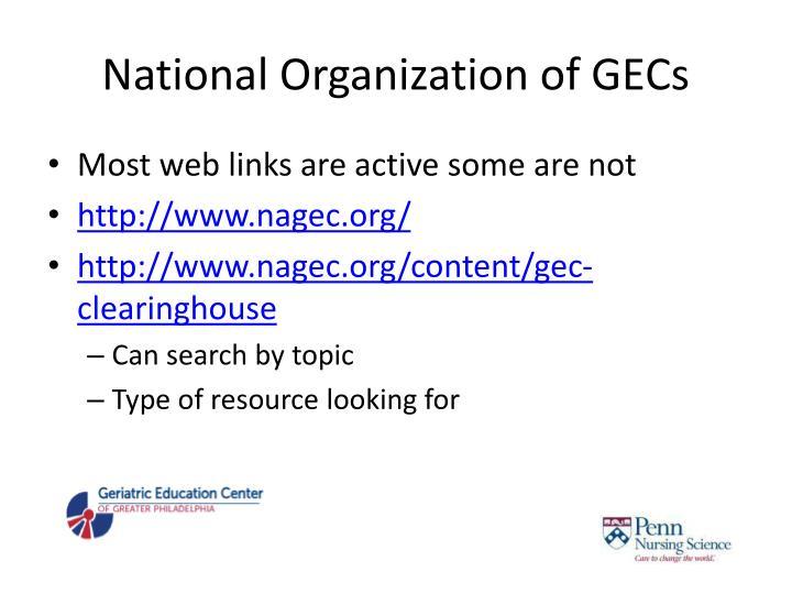 National Organization of GECs