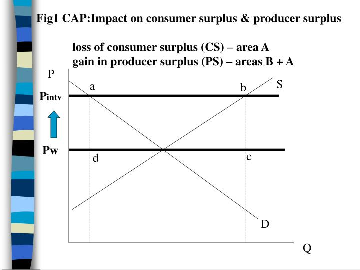 Fig1 CAP:Impact on consumer surplus & producer surplus