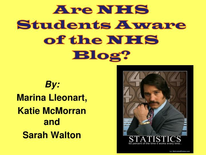 are nhs students aware of the nhs blog n.