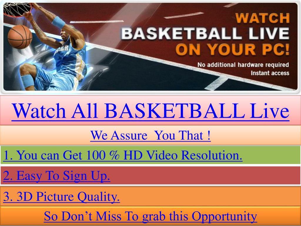 Watch All BASKETBALL Live