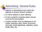 advertising general rules1