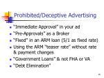 prohibited deceptive advertising1