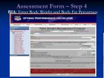 assessment form step 456