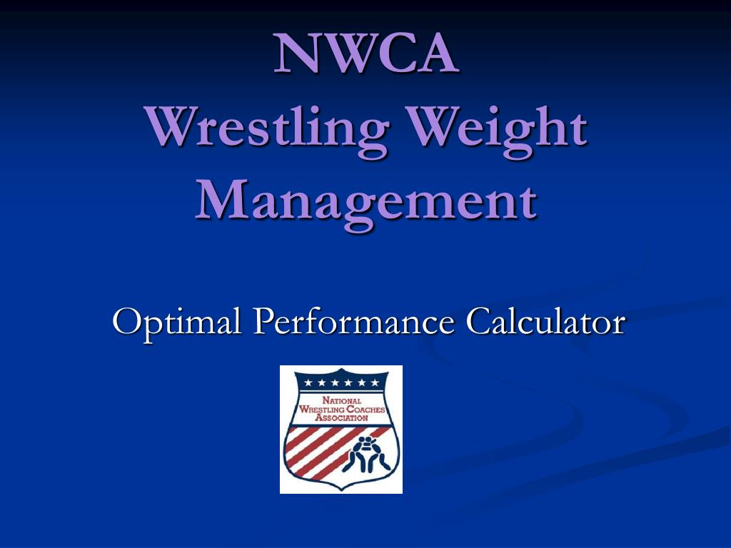 nwca wrestling weight management l.
