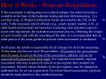 how it works program regulations9