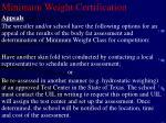 minimum weight certification29