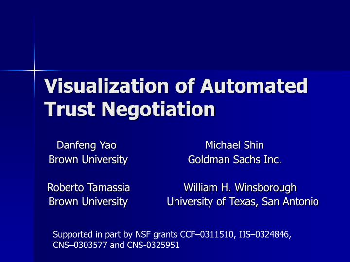 visualization of automated trust negotiation n.