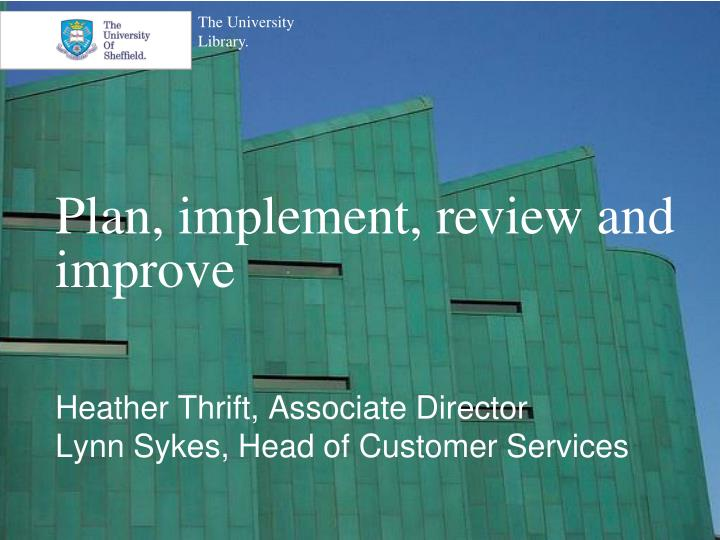 plan implement review and improve n.