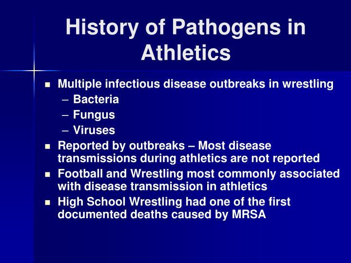 History of pathogens in athletics