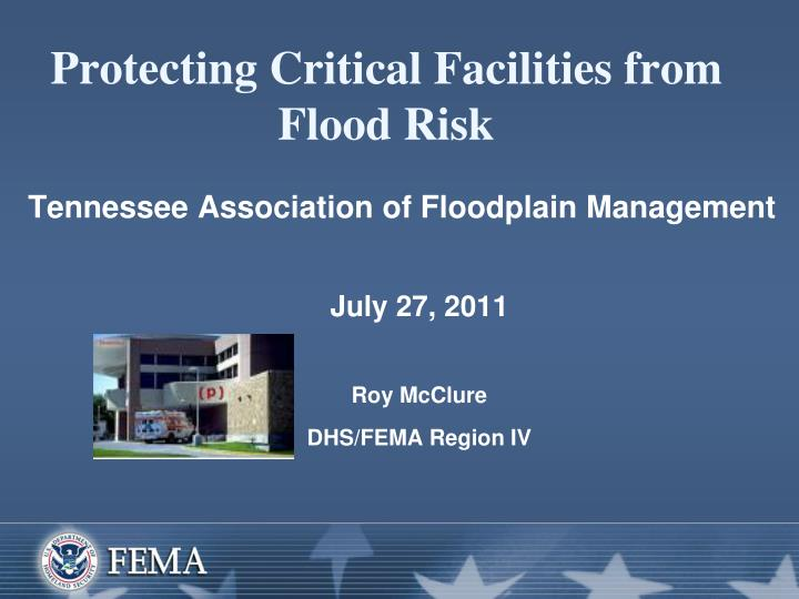 protecting critical facilities from flood risk n.