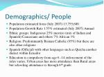 demographics people