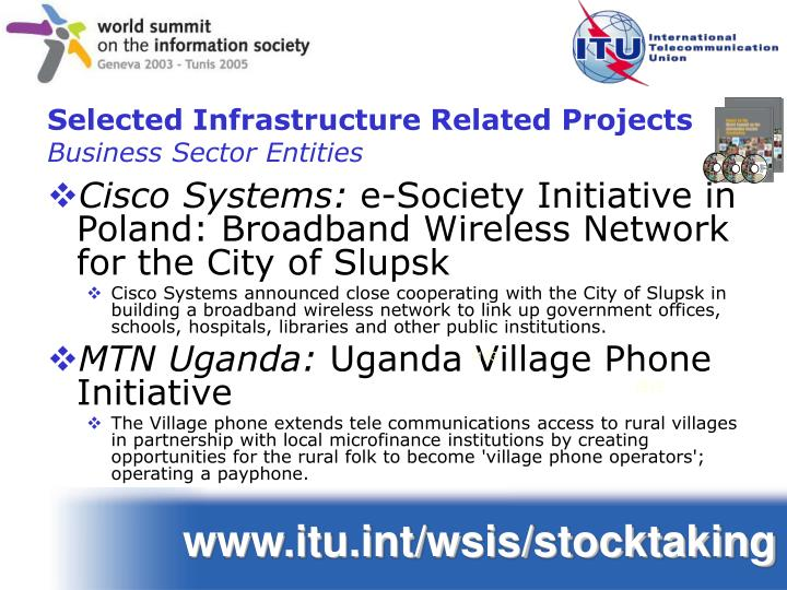 Selected Infrastructure Related Projects