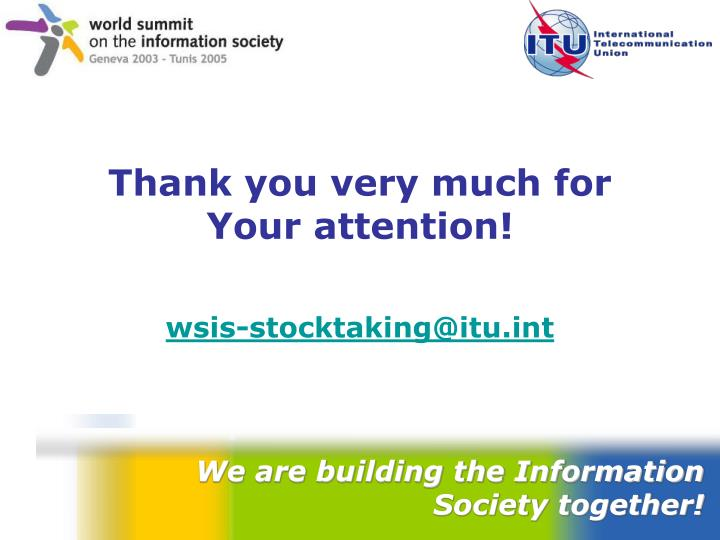 We are building the Information Society together!