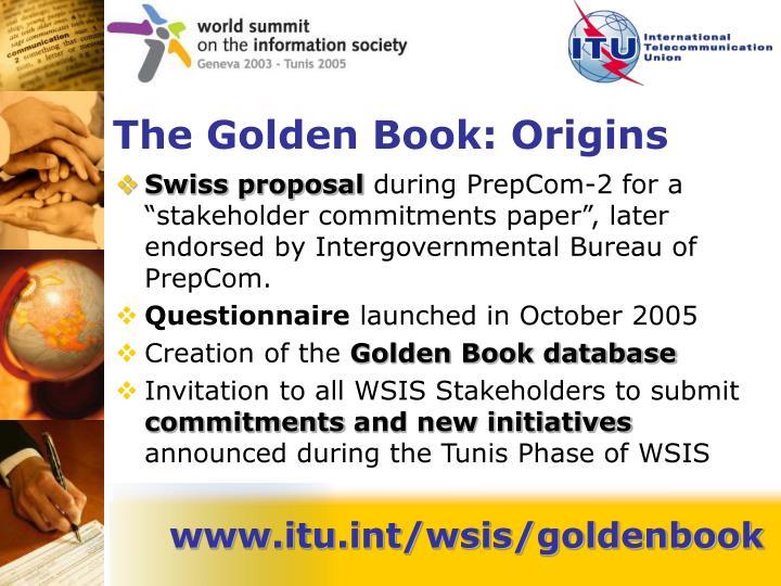 The golden book origins
