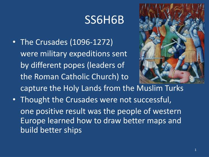the military purpose of the crusades expedition