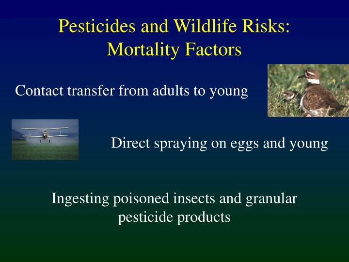 Pesticides and Wildlife Risks: