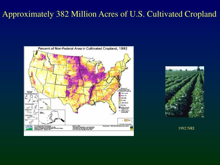 Approximately 382 Million Acres of U.S. Cultivated Cropland