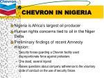 chevron in nigeria