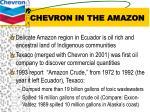 chevron in the amazon