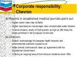 corporate responsibility chevron