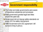 government responsibility