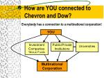 how are you connected to chevron and dow