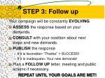 step 3 follow up