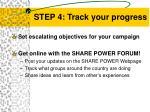 step 4 track your progress