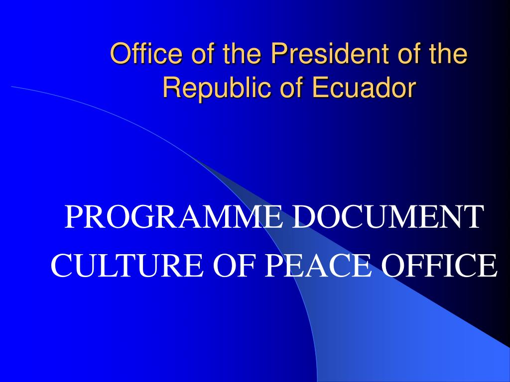 office of the president of the republic of ecuador l.