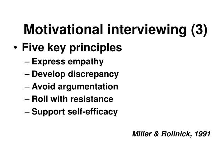 Motivational interviewing (3)