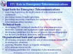 itu role in emergency telecommunications
