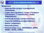 itu s role in disaster reduction 3