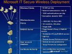 microsoft it secure wireless deployment