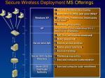 secure wireless deployment ms offerings