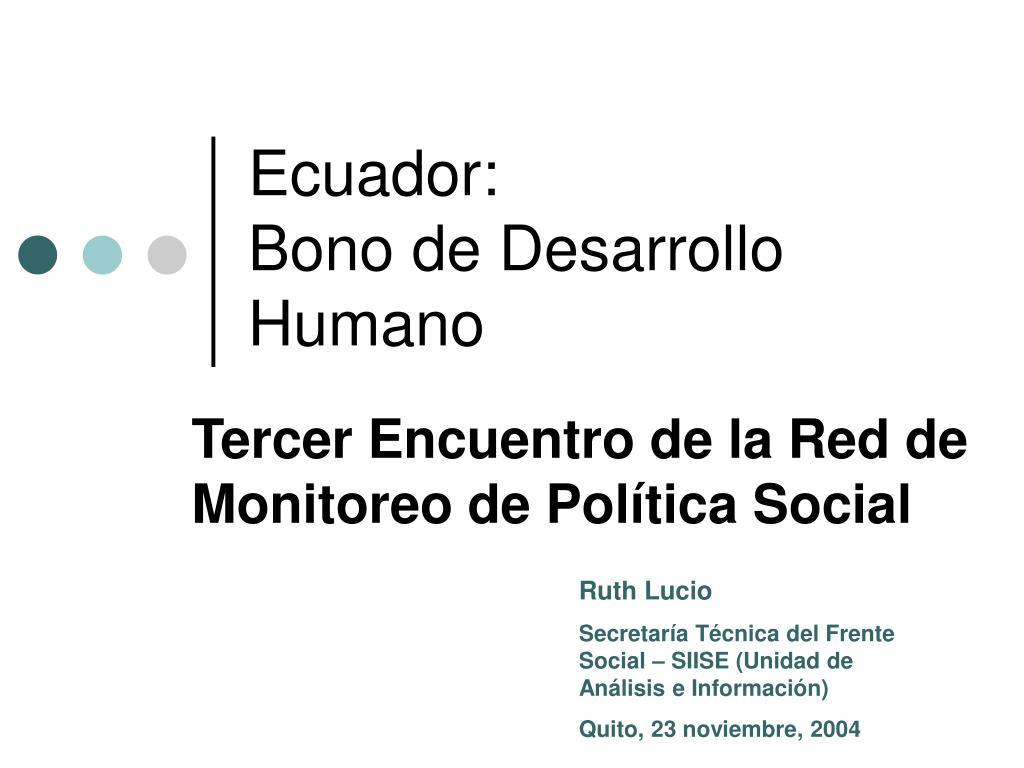 ecuador bono de desarrollo humano l.