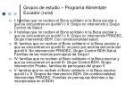 grupos de estudio programa alim ntate ecuador rural